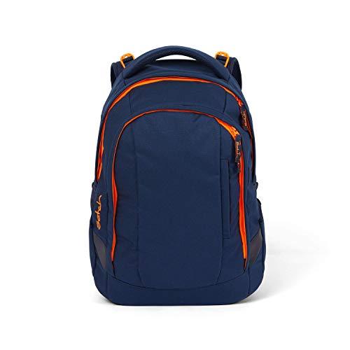 satch Sleek Toxic Orange, ergonomischer Schulrucksack, 24 Liter, extra schlank, Orange