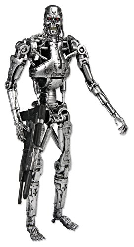 NECA 7 Pulgadas clásico Terminator Endoesqueleto Figura en Las Figuras de Ventana de acción - Figura Terminator T-800 Endosqueleto (18cm)