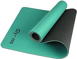 Glymnis Tappetino Yoga in TPE Tappetino da Yoga Antiscivolo a Doppia Faccia e Impermeabile Dimensione di 183 x 61 x 0.6...
