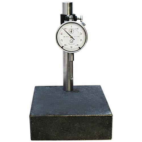 MH GLOBAL Granite Check Stand Comparator Base Surface Plate 6x6 and Dial Indicator