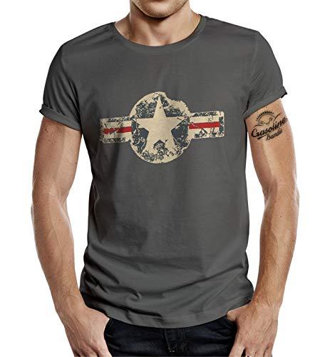 T-shirt pour fan de l'armee americaine : look use,XL,Gris