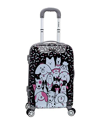 Rockland Vision Hardside Spinner Wheel Luggage, Puppy, Carry-On 20-Inch