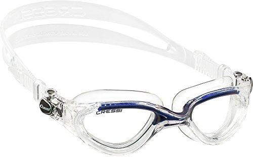 Cressi Flash, Occhialini Nuoto a Oculari Separati Infrangibili Antiappannamento, AntiGraffio, Anti UV Unisex – Adulto, Trasparente/Blu/Lenti Chiare, Taglia Unica
