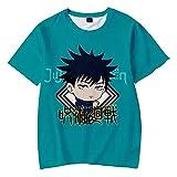 Jujutsu Kaisen Camiseta Verano Tops Moda Anime 3D Impresa Camisetas de Manga Corta Harajuku Hip Hop Camiseta Cosplay Anime Ropa Mujer Hombre-A_M