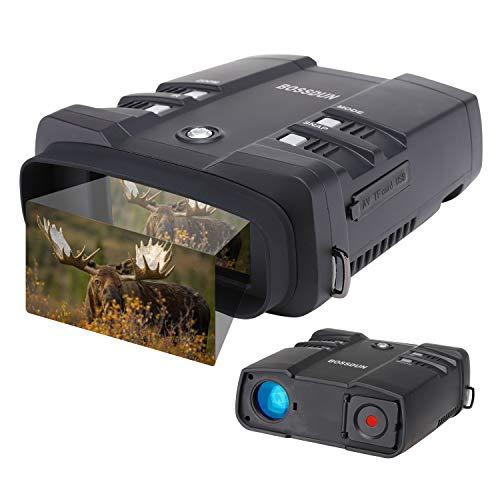 Prismáticos Digitales de Visión Nocturna, Guarde Fotos y Videos con Audio,binoculares Infrarrojo de 3.6-10.8x31 mm para Caza, con Tarjeta de Memoria 64G