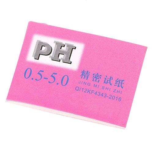 BANGNA 80 bandelettes pH alcalines à Courte portée 0,5-5,0 bandelettes de Test de pH en Papier Tournesol