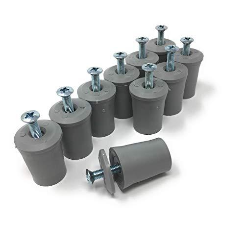 Butée de suspension système de blocage pour volet store roulant et gris 30 mm avec vis et rondelle