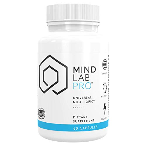 Mind Lab Pro Universal Nootropic Dietary Supplement 60 Capsules Supports Studying, Learning, Attention, Gluten Free Allergen Citicoline Phosphatidylserine