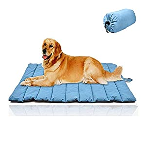 "Cheerhunting Outdoor Dog Bed 43""x26"", Waterproof, Washable,Large Size, Durable,Water Resistant, Portable and Camping Travel Pet Mat"