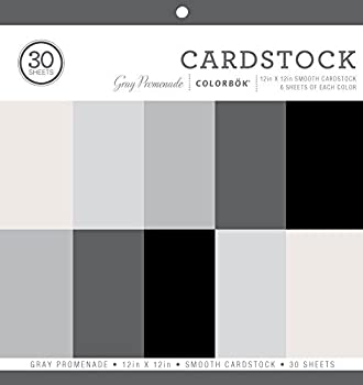 Colorbok Smooth Cardstock Paper Pad 12  x 12  Gray Promenage