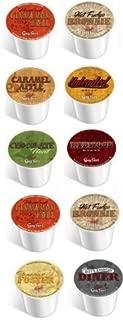 10 CUPS - Guy Fieri® Coffee Sampler, Single Cup Coffee! Bananas Foster, Caramel Apple, Hot Fudge Brownie, Chocolate Mint +