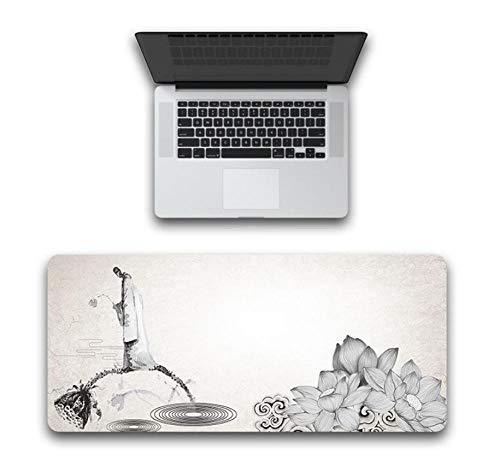 Yiiuii Mauspad Person Lotus Wurzel Tastatur Pad Gummituch Teppich Desktop Abdeckung 800X300X3Mm