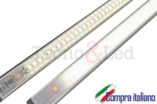 TECNO &LED®- BARRA LED SOTTOPENSILE DIMMERABILE SU MISURA CON CHIP LED SAMSUNG BIANCO (3000K CALDA, 40 CM)