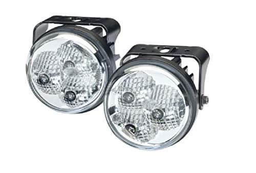 HELLA 2PT 009 599-811 Tagfahrleuchtensatz - LED - LED-Lichtfarbe: weiß - 12V/24V - glasklar - Anbau - Einbauort: links/rechts