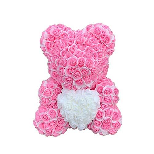 dailylime Rosas Rosa Flores Flor Oso de Caja Regalo Cajas petalos Artificiales Girasoles Bonitas Mama Bear Osito Peluche para Esponja Aniversario Mujer Regalos Adolescentes