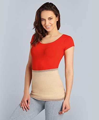 ®BeFit24 Nierenwärmer für Herren und Damen - Rückenwärmer - Wärmegürtel - Nierenschutz - Nierengurt Wärme [ Size 8 - Beige ]