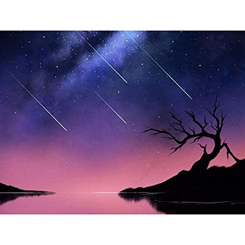Diy 5D Diamond Painting Kit Full Drill Paint By Numbers Embroidery Cross Stitch Arts Craft Canvas The Theme Of Comets Space For Adults Kids(40 * 50CM)