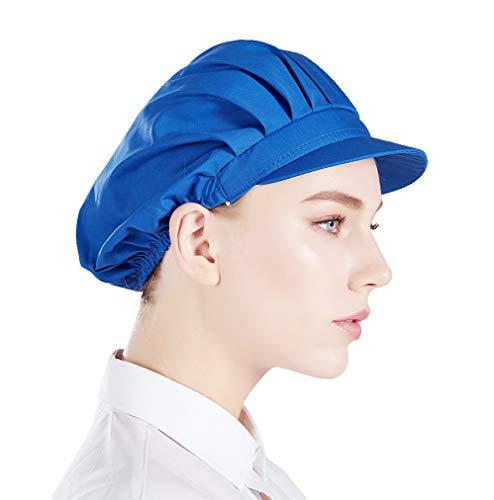Nanxson 3pcs Unisex Chef Hat Elastic Chef Cap Kitchen Baking Cooking Hat for Men Women CF9035 (blue3pcs, one size)