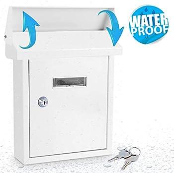 SereneLife SLMAB01 Indoor/Outdoor Wall-Mount Locking Mailbox