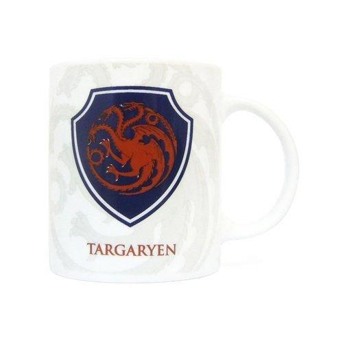 SD Toys - Game Of Thrones, escudo Targaryen, taza de cerámica (SDTHBO02091) Game of Thrones Taza Escudo Targaryen, Cerámica, Blanco, 9 cm