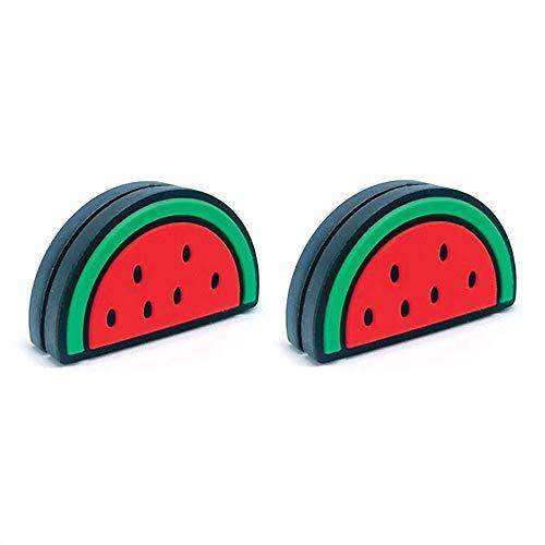 Tennis Feel Healthy Pack   Amortiguadores de vibraciones de alimentos   Para raqueta y cuerdas   Paquete de 2   Sandía