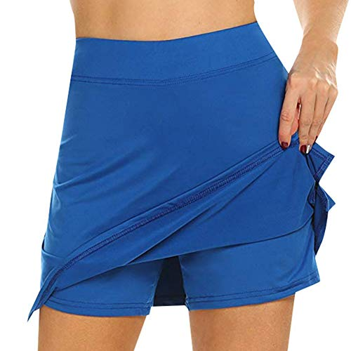 Qlans Damen Active Athletic Skort Laufrock Golf Skorts Mit Innenshorts für den Laufsport Golf Tennis Workout Casual Use