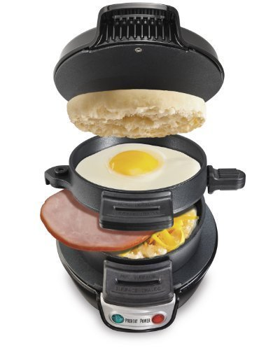Hamilton Beach 25477 Breakfast Electric Sandwich Maker, Black by Hamilton Beach [並行輸入品]