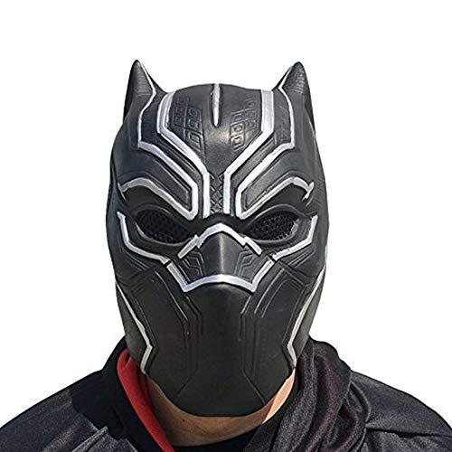 thematys Black Panther Horror Film Maske - Kostüm für Erwachsene - Halloween, Karneval, Fasching, Cosplay Partys - Latex, Unisex Einheitsgröße (Maske kann unangenehm riechen)
