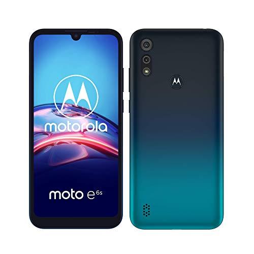 Motorola E6S - Smartphone 32GB, 2GB RAM, Dual Sim, Peacock Blue