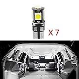 Pour 2008 3008 301 307 308 408 LED Lampe Ampoules Blanc Wedge Intérieur De Voiture Lumière Dôme Feux De...