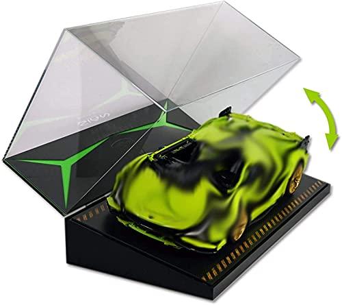 YAOJIA vitrinas expositoras Vitrinas De Acrílico Transparentes Utilizadas para La Exhibición del Modelo De Automóvil, Vitrina De Exhibición Coleccionable con Pendiente De Pista con Diseño De Concha