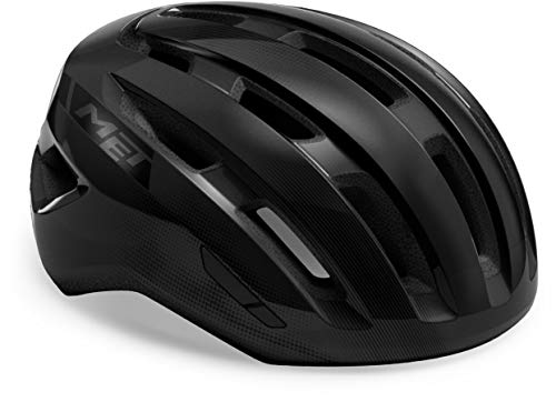 MET Casco Miles Black Glossy para bicicleta (circunferencia de la cabeza M/L,...