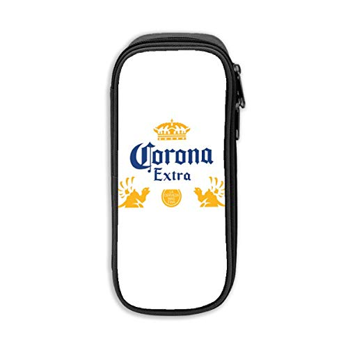 Corona Extra Bier Grote Capaciteit Potlood Case Potlood Student Stationery Box Opbergtas Cosmetisch Eén maat Zwart