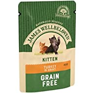 James Well beloved Naturally Healthy Cat Wet Pouches Kitten Turkey 85g (box of 12pouches) Choose fro...