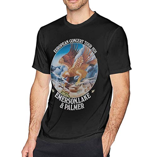 Camisa de Hombre Emerson Lake and Palmer Mens Short Sleeve T-Shirt Casual Tops tee Classic Fit Basic Shirts
