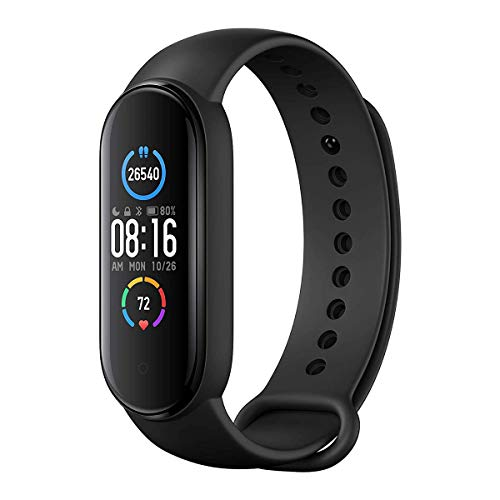 Xiaomi Mi Band 5 Global Version Pulsera de Fitness, Pantalla a Color AMOLED de 1.1 ″, Unisex, Negro