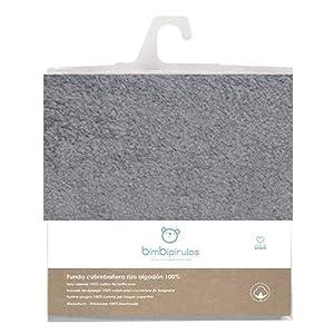 Pirulos 36100040 - Funda cubrebañera, algodón, 50 x 80 cm, color gris marengo