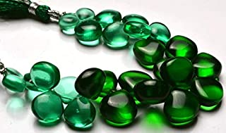 Jewel Beads Natural Beautiful jewellery 1 Strand Natural 5.5 Inches Super Finest Quality Green Color Apatite Hydro Quartz Smooth Heart Shape Beads Briolettes 8 To 13 MM Code:- JBB-3205