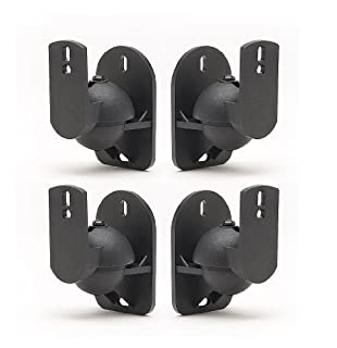 TechSol Universal Speaker Wall Brackets, Pack of 4, Black (B001FX6DP2) | Amazon price tracker / tracking, Amazon price history charts, Amazon price watches, Amazon price drop alerts