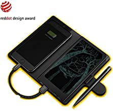 3-in-1 Writing Tablet, Portable Charger and Wireless Charger. Memomate LCD Graphic Drawing Tablets Paperless Digital EWriter Notepad Doodle Board with 10000mAh Power Bank and Qi Wireless Charging Case