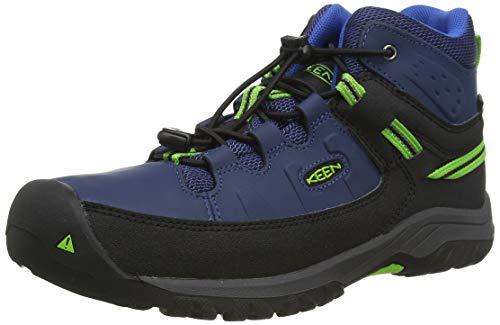 KEEN Unisex-Kinder Targhee Mid, Imperméable Trekking-& Wanderschuhe, Blau (Blue Opal/Bright Green 400), 38 EU