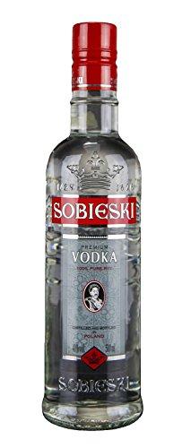 Sobieski Klarer Wodka | Polnischer Qualitätswodka | 40%, 0,5 Liter