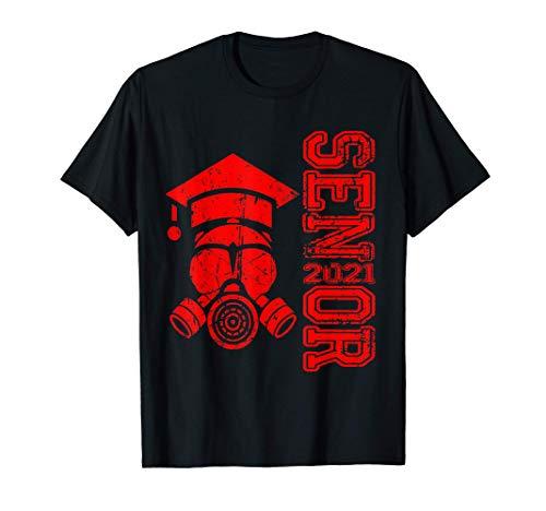 Vintage Senior 2021 Face Mask Quarantined Class of 2021 T-Shirt