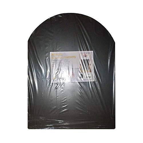 schwarz Bodenschutzmatte für Holzofen und Pellet cm. 60x80-Plattformen