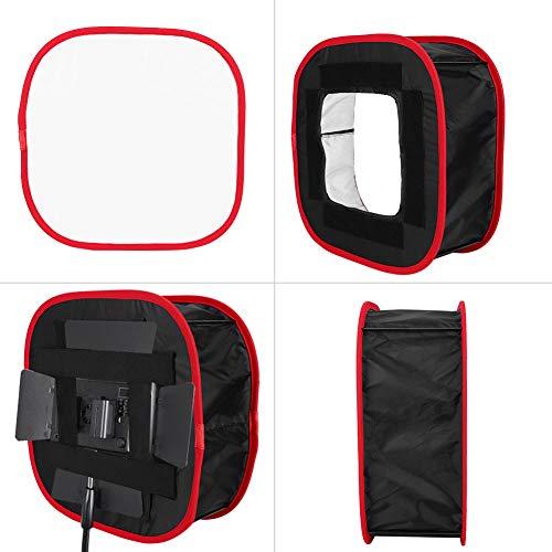 SHYEKYO Softbox Softbox de luz de Video Altamente Reflectante portátil Duradera, con Bolsa de Almacenamiento, para la mayoría de Las Luces de fotografía