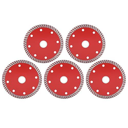 5 piezas de hojas de sierra, disco de corte de cerámica corrugado, herramientas de corte para carpintería, 105 MM, gran mano de obra