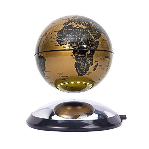 Lámpara magnética de levitación de globo 360 grados giratoria flotante mapa del mundo decoración del hogar Festival regalo de cumpleaños niños educación día de San Valentín, modelo 011911, B