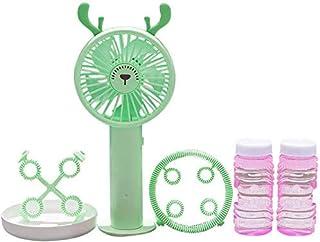 BRISEZZ Fan Machine portátil portátil USB Mini Ventilador Ventilador Recargable 100ml Unidad Acondicionado Pequeño Aire Acondicionado portátil, Rosa HRTT (Color : Green)