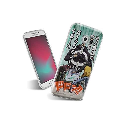 CibliUzHA Compatible con Samsung Galaxy S6 Edge Funda diseño de Dibujos Animados, Suave de TPU Protector Delgado a Prueba de Golpes para Samsung Galaxy S6 Edge C#010