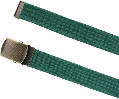 New CTM Cotton Web 1.5 Inch Adjustable Military Buckle Belt